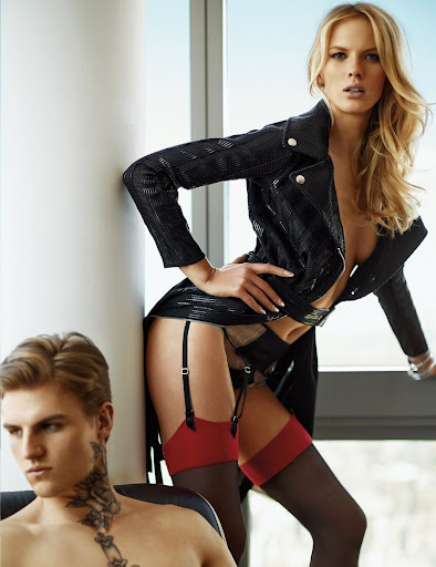 Anne Vyalitsyna hot poses in sexy lingerie for FHM China