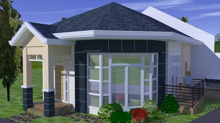 Vivi machange picha rangi ya paa ni kipengele muhimu for Small house architecture design philippines
