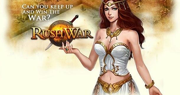 Construa o seu reino militar e vença a guerra em RushWar