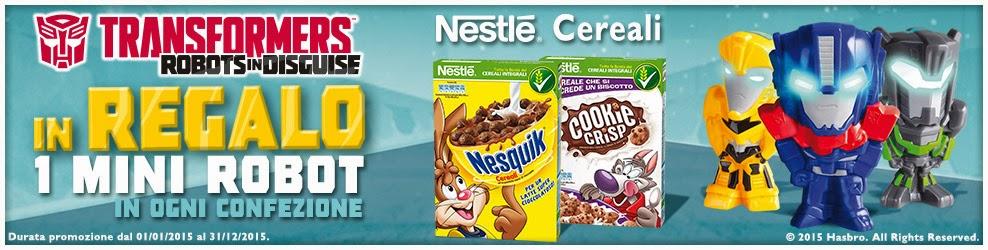 Con Nesquik e Cookie Crisp in regalo i Transformers nuova promozione 2015 Nestle