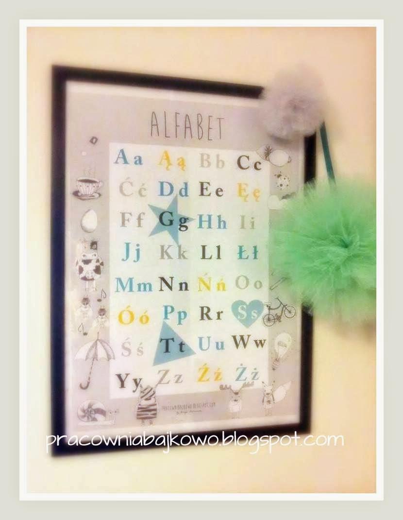 """Plakat """"Alfabet"""" - abecadło do nauki czytania"""