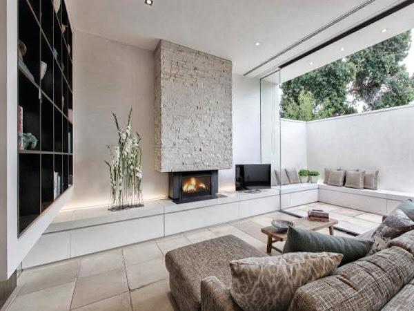 Salones con chimenea decorar tu casa es - Decorar salon con chimenea ...