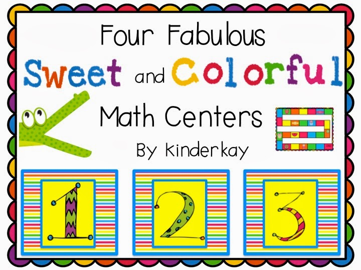 http://www.teacherspayteachers.com/Product/Four-Fabulous-Sweet-and-Colorful-Math-Centers-678016