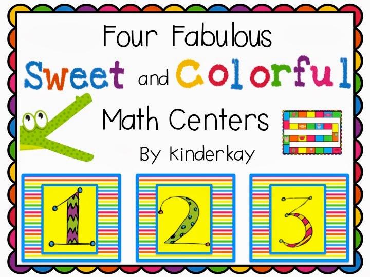 http://www.teacherspayteachers.com/Product/Four-Fabulous-Sweet-and-Colorful-Math-Centers-678016
