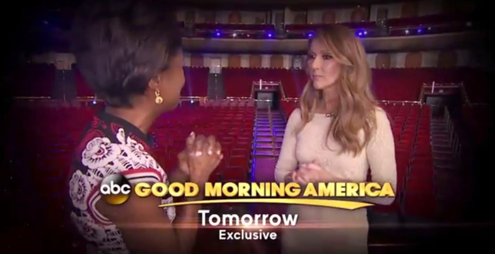 Good Morning America Tomorrow : The power of love celine dion in interview