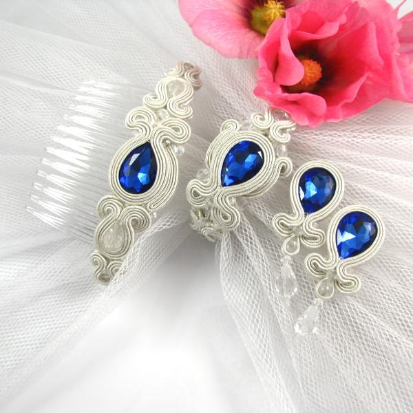 Biżuteria ślubna sutasz komplet