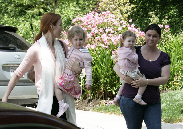 Marcia cross and Tom Mahoney's twin beby girls Eden and Savannah