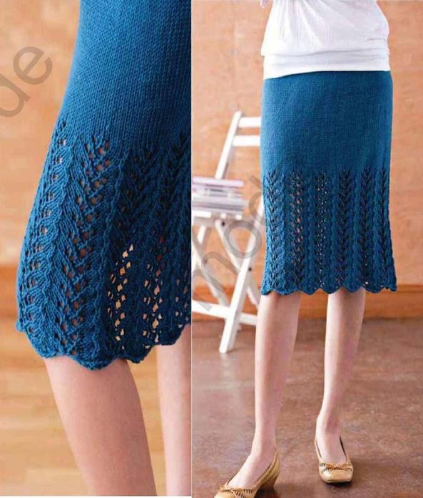 Женские юбки вязание спицами 89