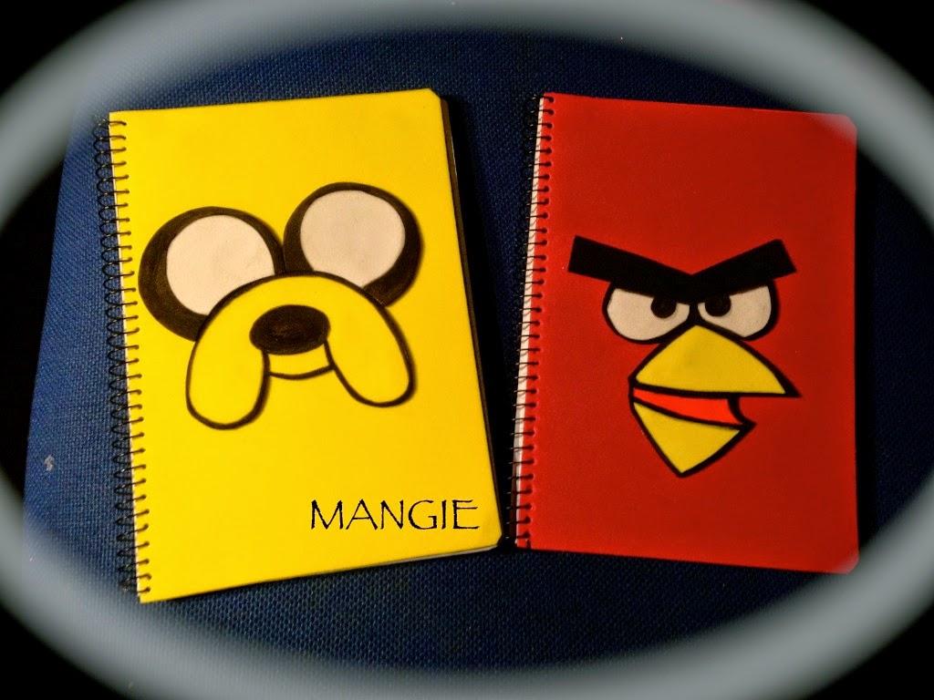 Cuadernos decorados en goma eva