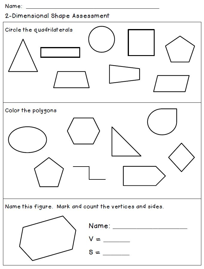 Classroom Freebies: Attributes of 2-Dimensional Shapes