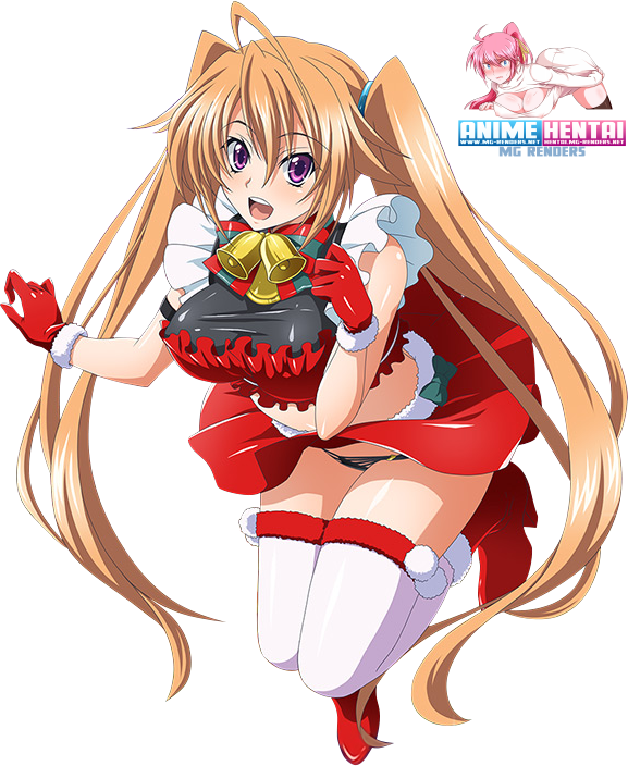 Tags: Anime, Render,  Christmas,  High School DxD, ハイスクールD×D, Haisukūru D×D,  Shidou Irina,  PNG, Image, Picture