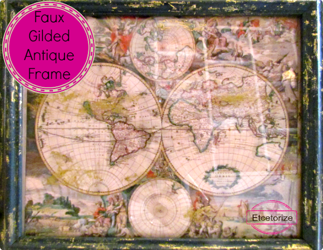 faux gilding, how to antique a frame, how to faux antique
