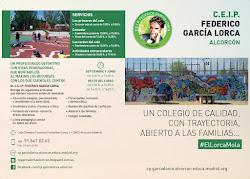 Díptico del CEIP Federico García Lorca - Alcorcón