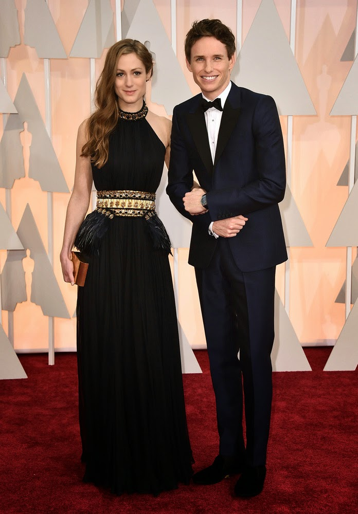 Oscar 2015 Hannah Bagshawe y Eddie Rednmayne
