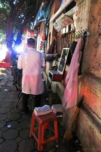 Street Barber in Hanoi, Vietnam