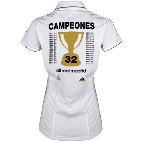 camiseta Real Madrid campeones de Liga 2012 mujer