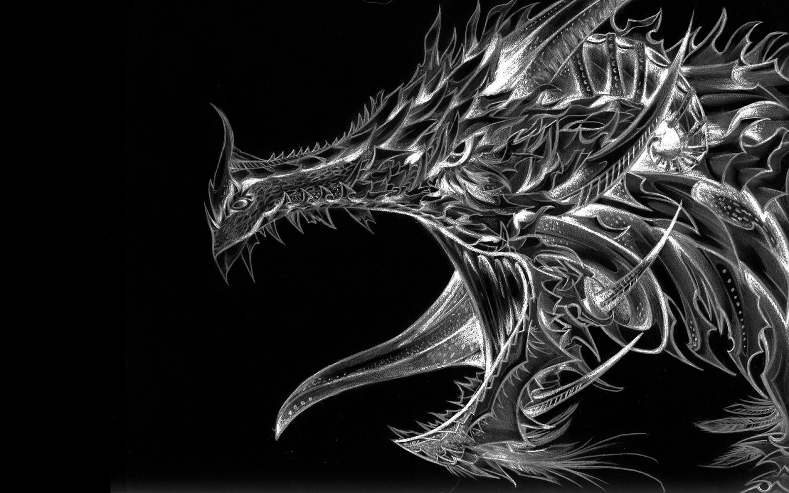 If I were a dragon ... I would look like this .. - Page 3 Silver+Dragon