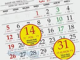 Hari Libur dan Cuti Bersama Nasional Pada Tahun 2015