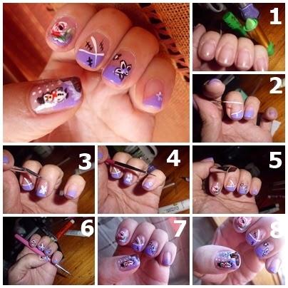 uso de los pinceles para manicuras