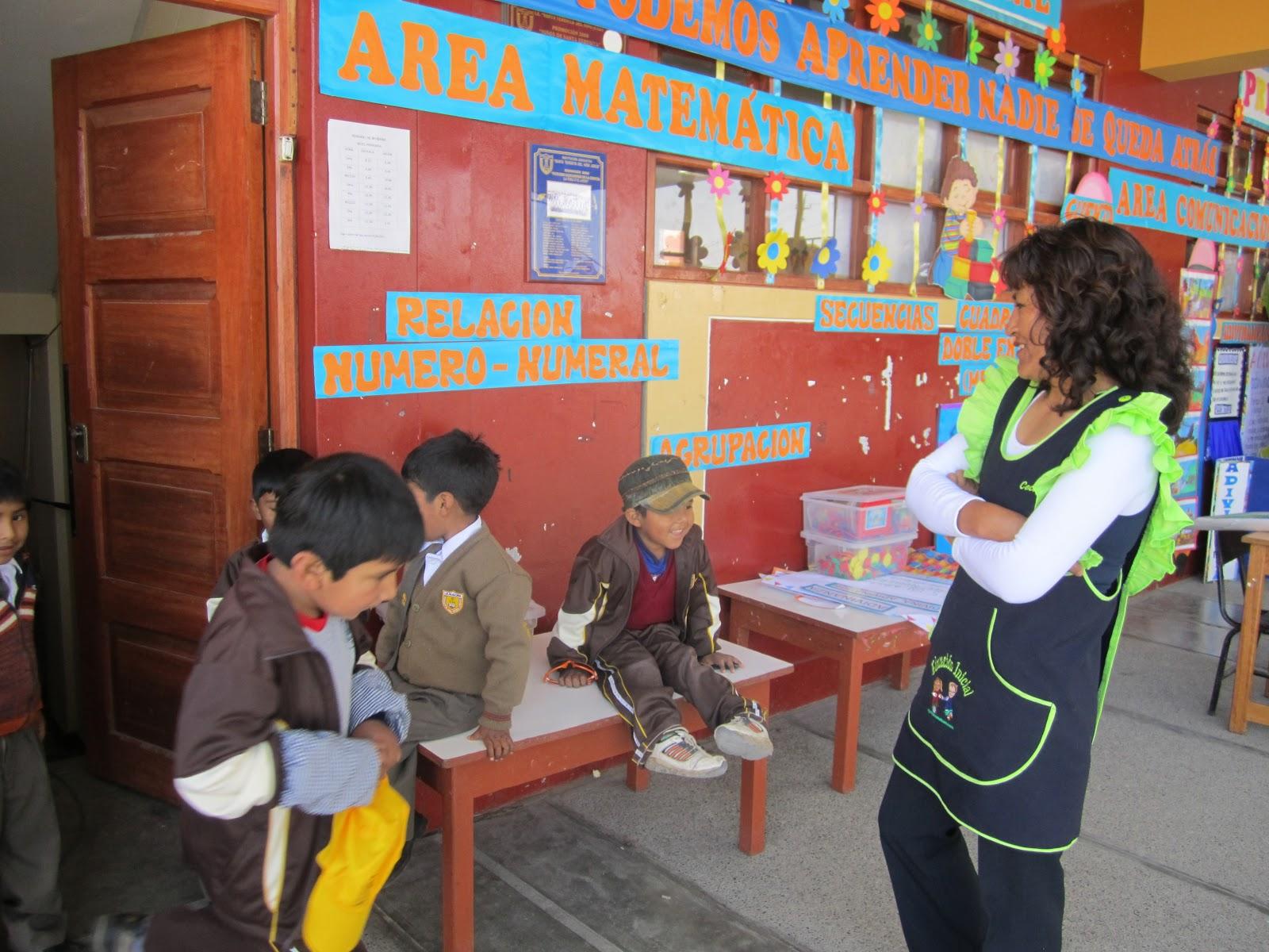 DE LOS ALUMNOS Y MAESTRAS DE EDUCACION INICIAL EN EL DIA DEL LOGRO