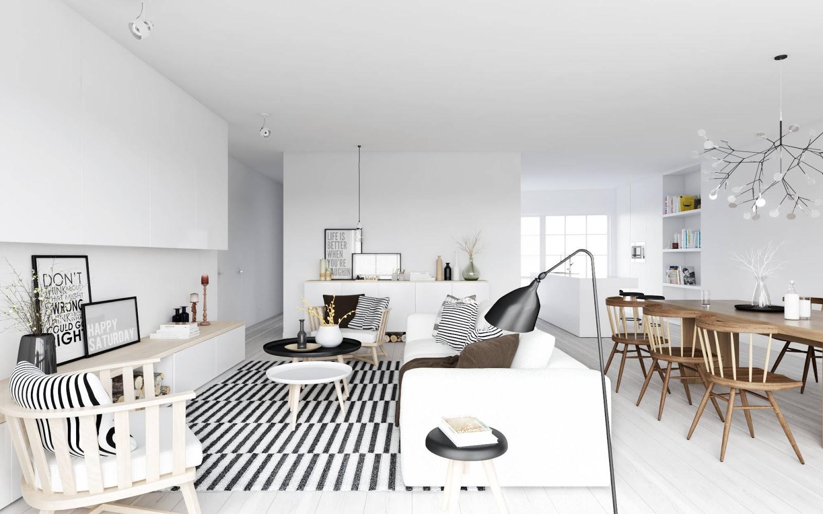 Adc l 39 atelier d 39 c t am nagement int rieur design d 39 espace e - Maison style scandinave ...