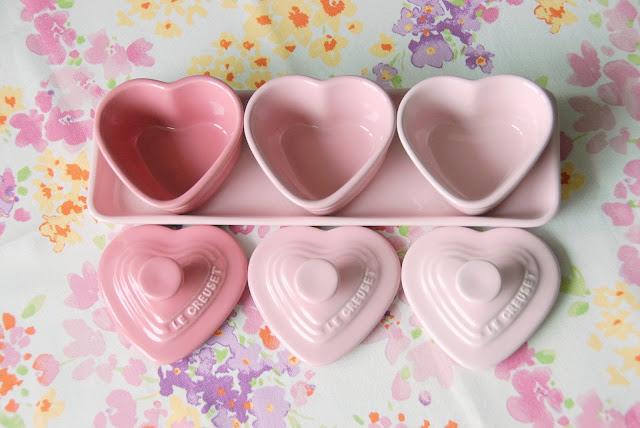 Le Creuset pink heart ramekin