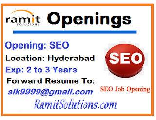 SEO Openings in Hyderabad | SEO Jobs in Hyderabad