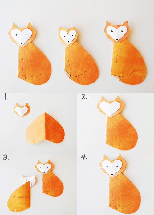 My Owl Barn: DIY: Owl and Fox Valentine Cards Easy Designs To Draw On Your Hand With Pen
