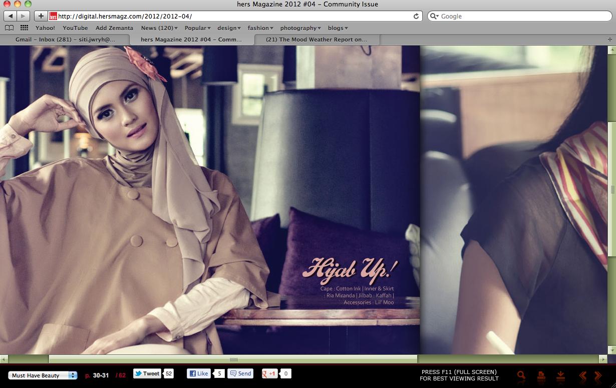 Kaffah By Siti Juwariyah 2012 Cottonink Miranka Navy M Hers Magazine 04 Community Issue