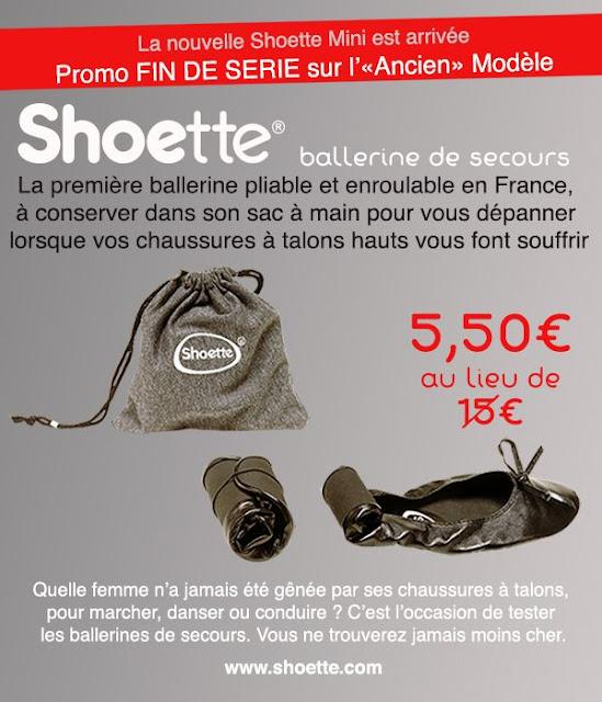 Super Offre: Le ballerine de sac à 5.50€ au lieu de 15€!