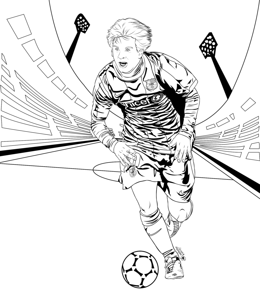 coloring pages sports messi jersey - photo#2