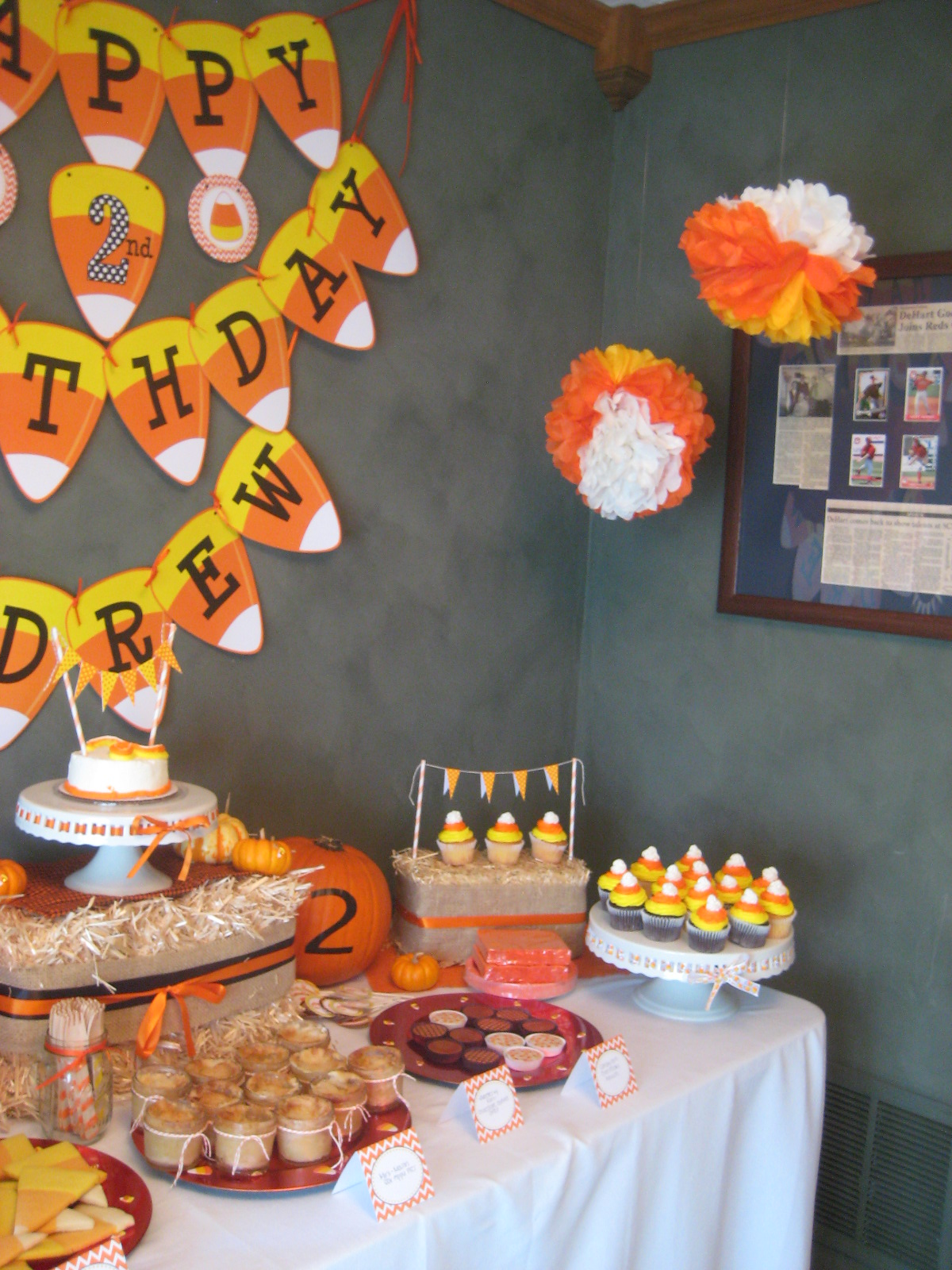 Candy Corn Birthday Party Dimple Prints