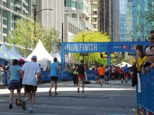 Vancouver Marathon Finish Line