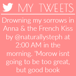 Drowning my sorrows in Anna & the French Kiss by @naturallysteph at 2:00 AM in the morning.
