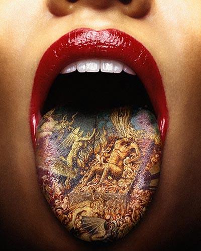 El vaso del agua sucia...( cuento con moraleja ) Tongue-tattoo