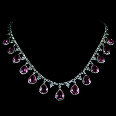 diamond cttw chain affinity product pink with necklace natural heart pendant