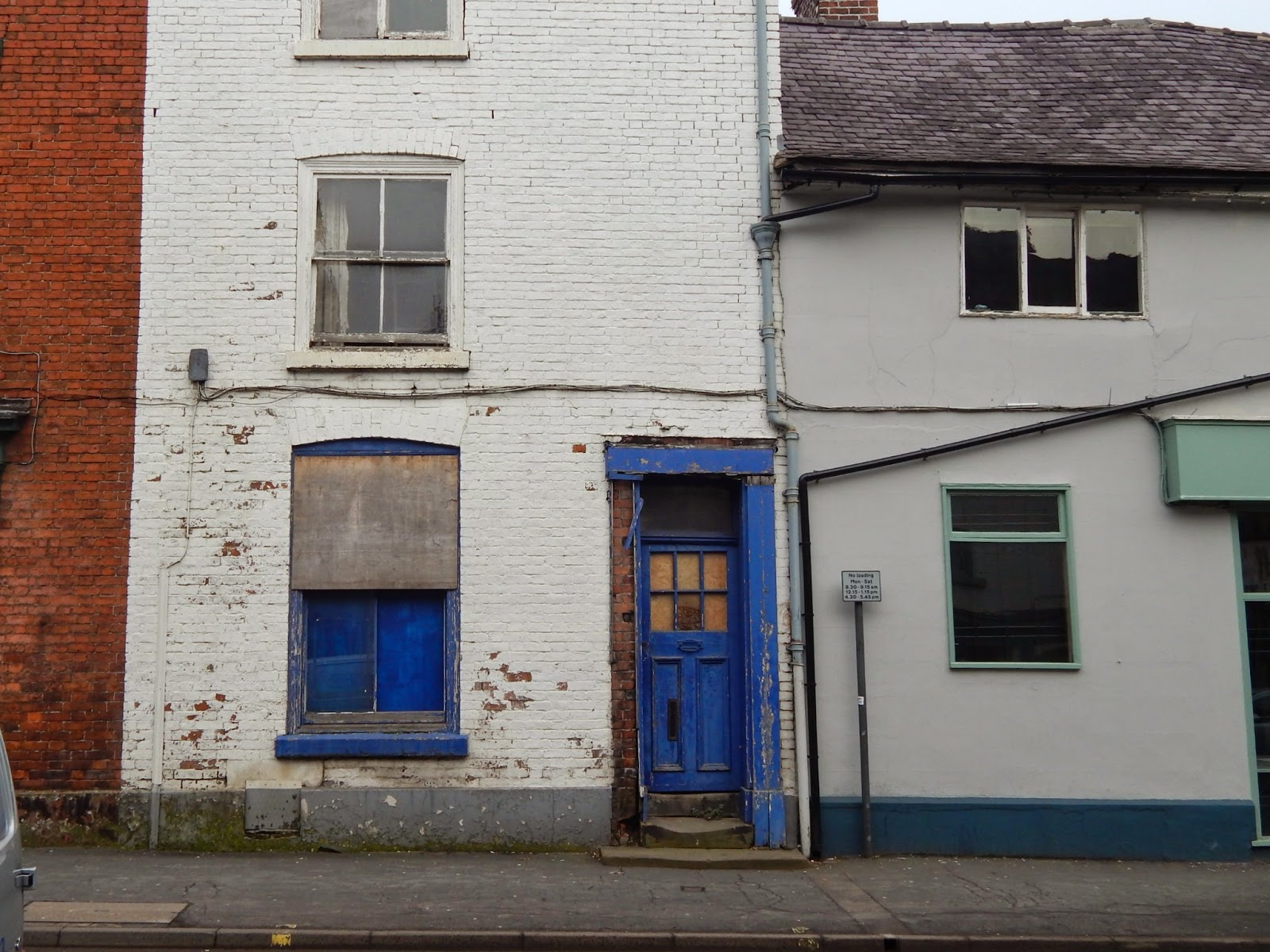 Blue Window Door
