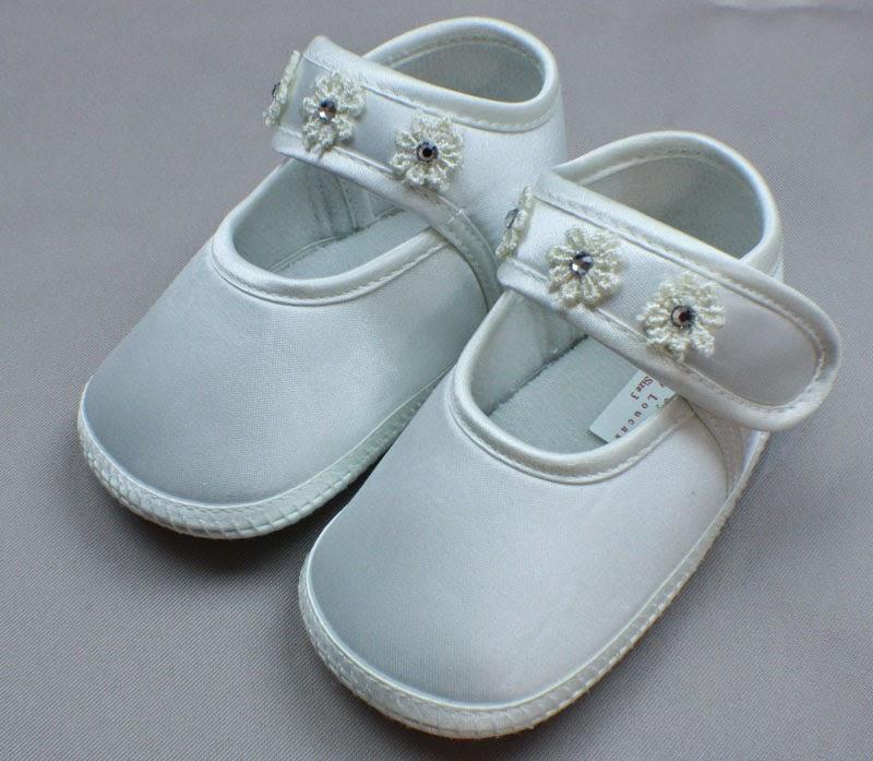 Zapatos de Bautizo con Flores, Niñas