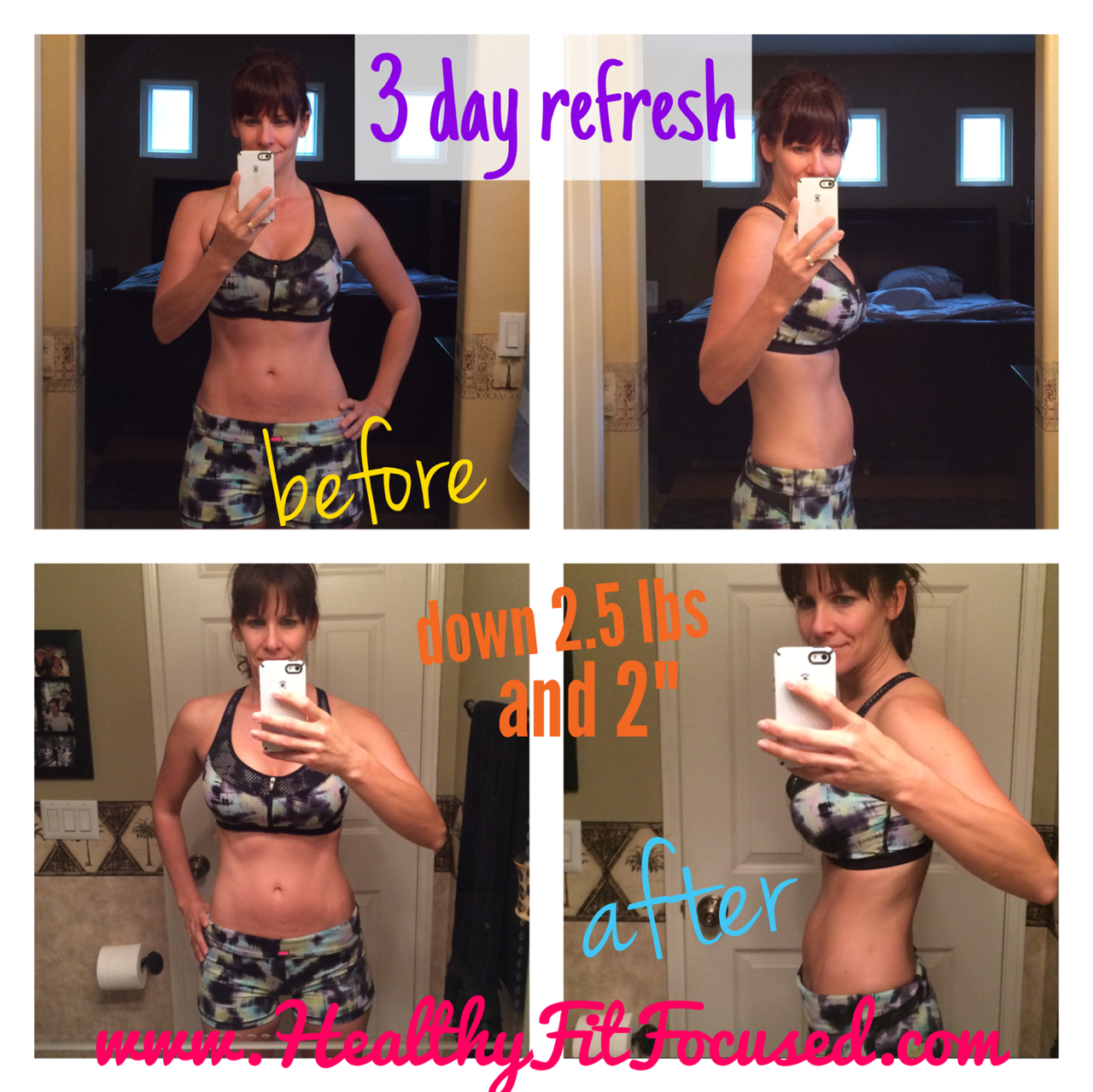 3 Day Refresh Women's Results and Update!, www.HealthyFitFocused.com
