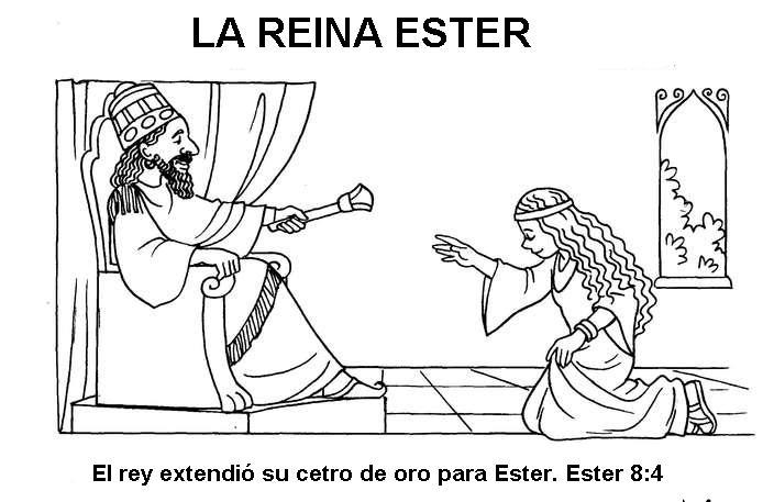 ME ABURRE LA RELIGIÓN: ESTER. DIBUJOS PARA COLOREAR