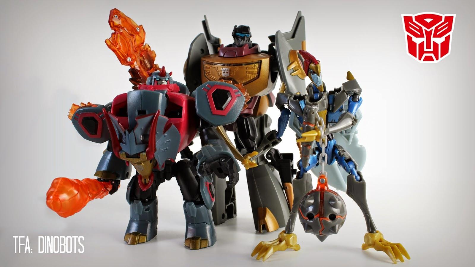Transformers Animated Dinobots Grimlock Snarl Slag Swoop Autobots Hasbro Takara Toys Action Figures