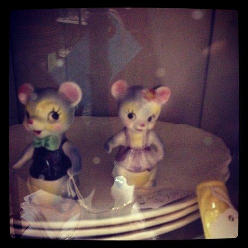Antique Ceramic Mice