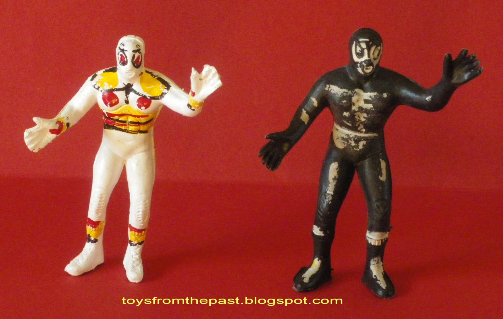 Mexican Wrestler Hand Painted Figures