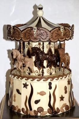 Tarta tiovivo de chocolate