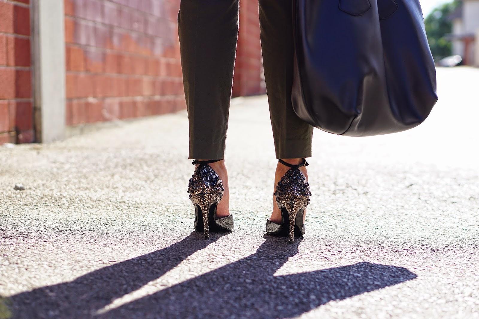 Foreign Exchange, Altuzarra for Target Black Blazer, MNG by Mango Olive Pants, JCPenney, Nina Shoes, Burlington Coat Factory, TJ Maxx, Black bucket bag, Fall Outfit Ideas