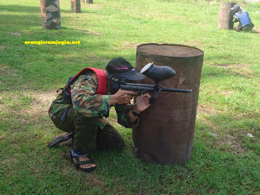 paintball rafting outbound jogja
