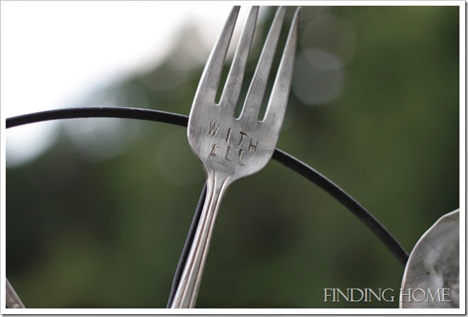 Make a charming vintage silverware whirligig for your garden! By Finding Home featured on ILoveThatJunk.com