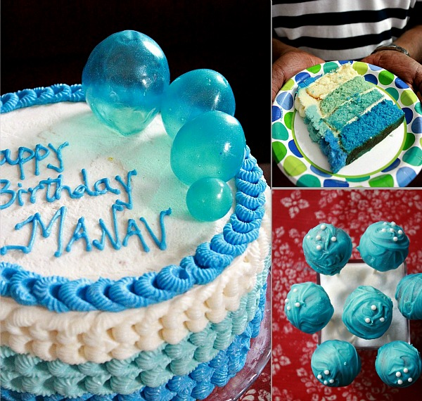Cake Images Manju : Manju s Eating Delights: A Bubble themed Birthday Party ...