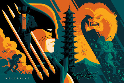Wolverine Variant Marvel Screen Print by Tom Whalen