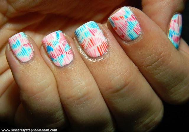 scribbles nail art